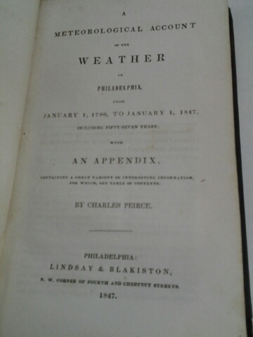 Image for METEOROLOGICAL ACCOUNT OF THE WEATHER IN PHILADELPHIA, FROM JANUARY 1, 1790 TO JANUARY 1, 1847...